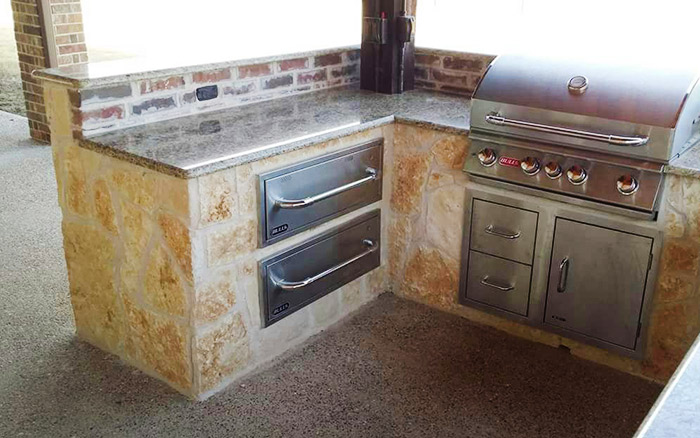 Texas Pastos And Concrete | Outdoor Kitchens stone kitchen ...